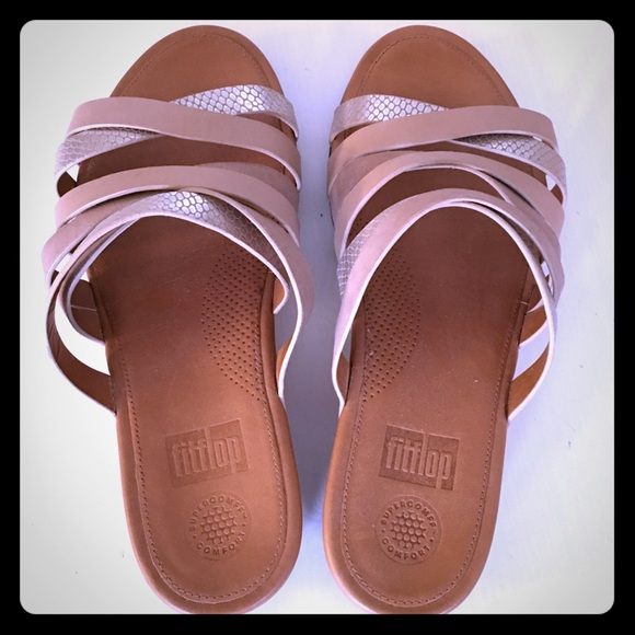 4b1e2a7c9 Fitflop Shoes - Fitflop Lumy Leather Slide Sandals